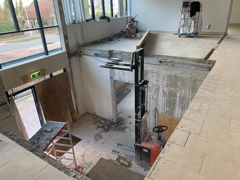 Verbouwing kantoor in Brabant